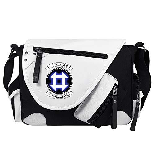 Detroit Become Human Múltiples Capas de Moda del diseño Deportes y Exterior Mochilas Bolsa de Viaje de Marea Bolsos de Hombro para Mujeres y Hombres (Color : White04, Size : 34 X 26 X 10cm)