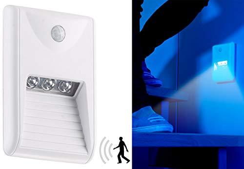 Lunartec Licht Bewegungsmelder: LED-Treppenleuchte & Nachtlicht mit PIR-Bewegungssensor, 15 lm, 0,18 W (LED Nachtlicht mit Bewegungsmelder)