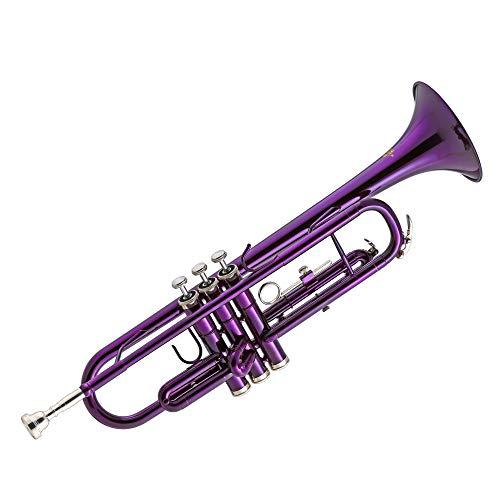 Kaizer TRP-1000PL Standard B Flat Bb Student Trumpet - Purple