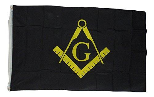 quarks Freemason Mason Masonic Black Flag, 3 X 5, 3x5 Feet New! Polyester