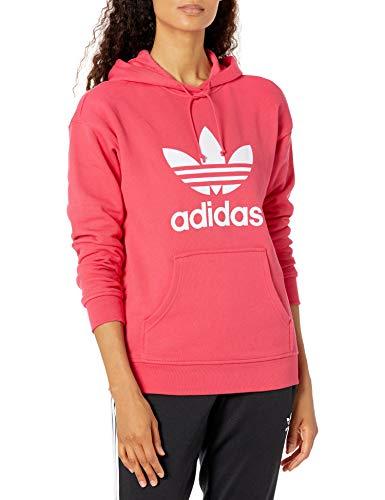 adidas Originals Trefoil Hoodie Sudadera con Capucha, Rosa y Blanco, X-Small para Mujer