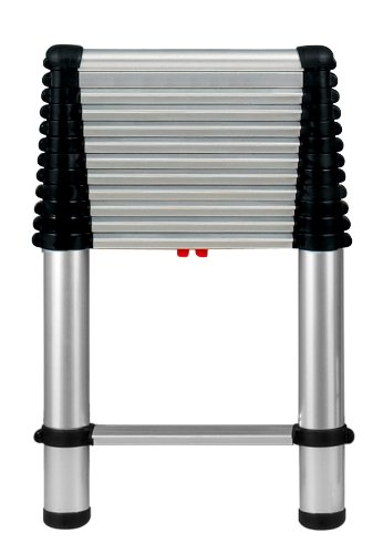 Telesteps 1600E The World's Only Fully Automatic Telescoping Ladders, with Patented One-Touch Release, OSHA Compliant 12.5 ft Extended Height, Up to 16 ft Reach may be possible, Telescoping Extension Ladder