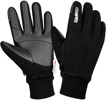 Cevapro Unisex Winter Suede Warm Gloves