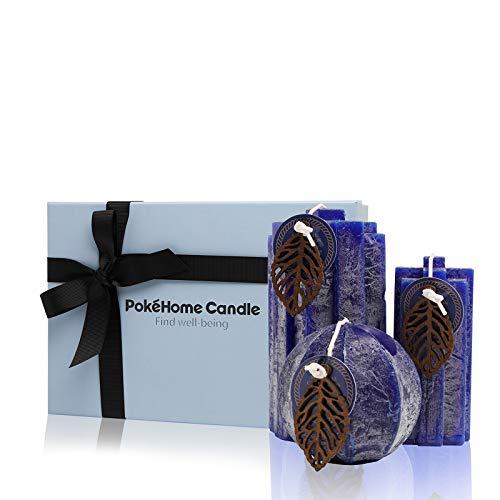 Velas Aromáticas de Regalo, PokeHome Candle Vela Perfumadas Regalos para Mujer, Duración de Combustión de Hasta 80 Horas, Hecho a Mano - 21 Oz