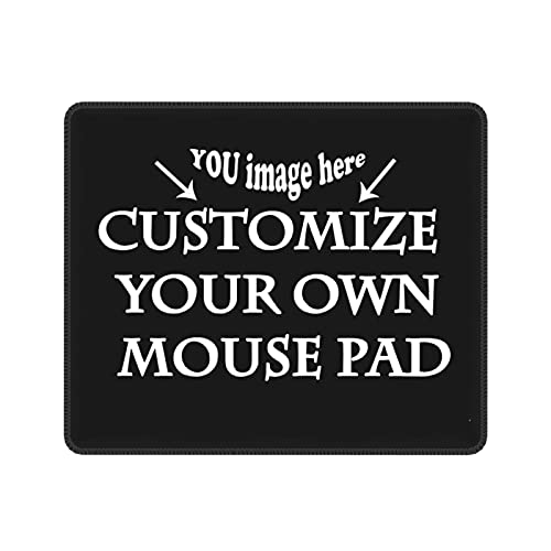 Custom Your Own Personalized Gaming Mouse Pad Gift - Add Photo, Text, Logo or Art Design Personalized Non-Slip Rubber Mouse Mat for Desktops, Computer, PC and Laptops 7 X 8.6 Inch