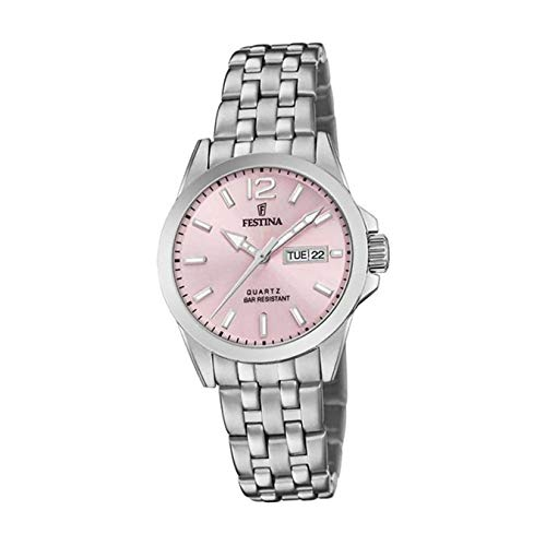 Festina Damen Analog Quarz Uhr mit Edelstahl Armband F20455/2