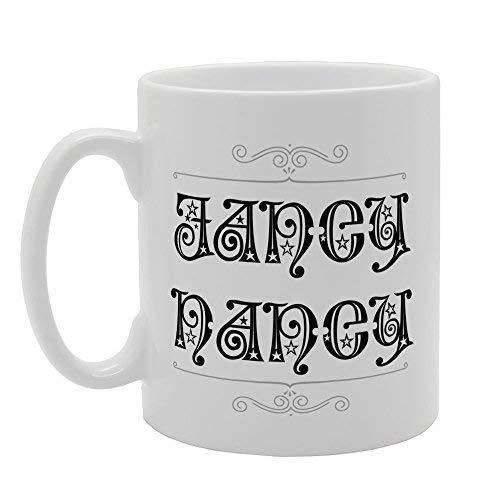 N / A Taza de café de cerámica del té de la Novedad del Regalo Nancy