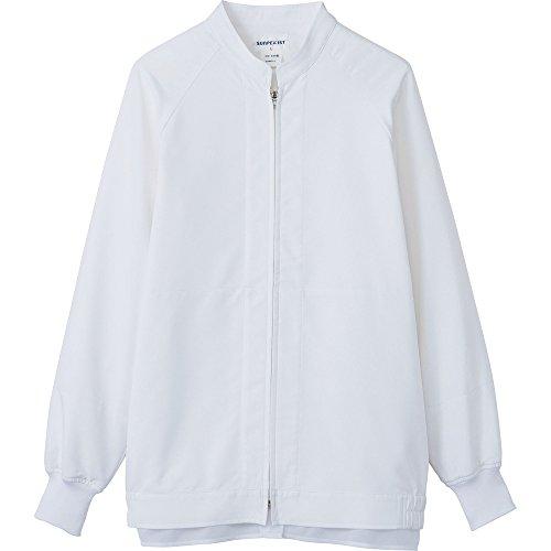 サンペックス 男女兼用長袖ジャンパー ホワイト SS VP621-SS 食品工場向けジャケット