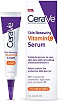 CeraVe Vitamin C Serum with Hyaluronic Acid | Skin Brightening Serum for Face with 10% Pure Vitamin C | Fragrance Free |...