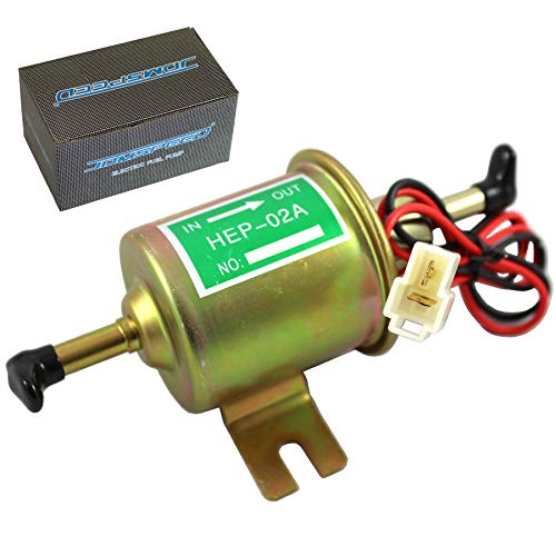 JDMSPEED Universal 12V Heavy Duty Electric Fuel Pump Metal Solid Petrol 12 Volts