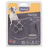 Penn-Plax Vitakraft Friends Collection by Flexi Guinzaglio Originale Corda Riflettente / Regolabile per Cane, Fino a 8 kg, Grigio, 3 m, Taglia XS