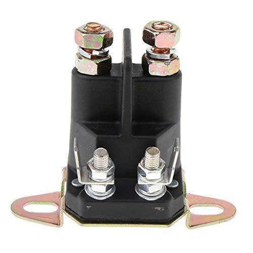 1 pieza Reemplaza el relé de arranque del solenoide-Solenoide de Arranque del relé contactor conmutador de Cambio-Piezas de desgaste del motor-Accesorios para tractor cortacésped- Negro