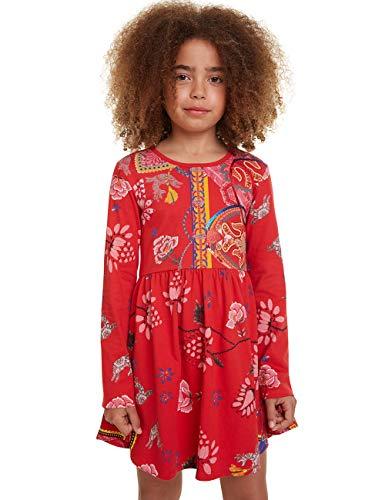 Desigual Dress Ixtapaluca Vestido, Rojo (Rojo 3092), 14 años para Niñas