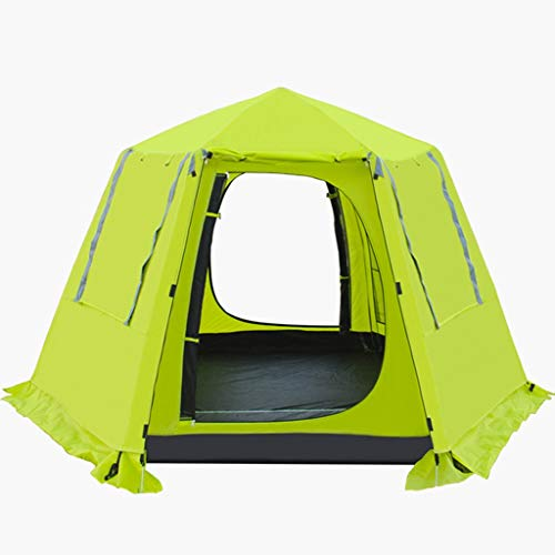 WEIE Family Camping Tents Tent Hexagon, Automatic Pop-Up Tents, Dome Tents 3-4 People, Double-Layer Tunnel Tents for Camping Waterproof Anti-UV,...