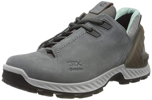 ECCO womens Exohike Low Gore-tex Hiking Shoe, Titanium Nubuck, 10-10.5 US