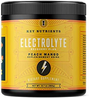 Electrolyte Powder Peach Mango Hydration Supplement 90 Servings Carb Calorie Sugar Free Delicious product image