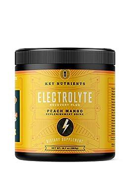 Electrolyte Powder Peach Mango Hydration Supplement  90 Servings Carb Calorie & Sugar Free Delicious Keto Replenishment Drink Mix 6 Key Electrolytes - Magnesium Potassium Calcium & More.