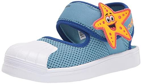 adidas Originals unisex baby Superstar 360 Sandal Primeblue Sneaker, Crew Yellow/White/Team Royal Blue, 5.5 Toddler US