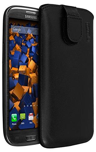 mumbi Echt Ledertasche kompatibel mit Samsung Galaxy S3 / S3 Neo Hülle Leder Tasche Hülle Wallet, schwarz