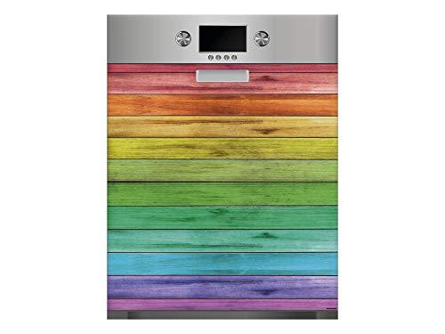 Vinilo para Lavavajillas Madera de Colores   Varias Medidas 65x75cm   Adhesivo Resistente y de Fácil Aplicación   Pegatina Adhesiva Decorativa de Diseño Profesional