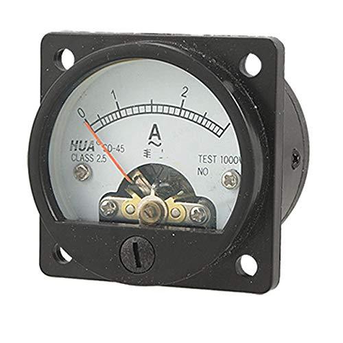Agger Analog Amperemeter Strommessstrommessgerät Spur Analog Panel Meter Strommesser Spur Schwarz (AC 0-3A, 1PC)