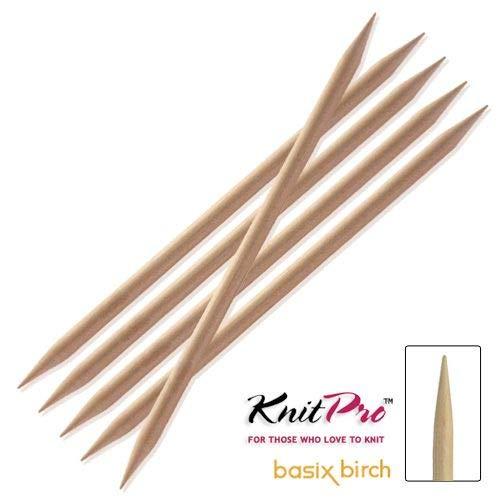 KnitPro Nadelspiel Basix Birch 4,50 mm 20 cm 5 St