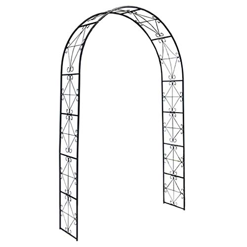 RuBao Rose Garland Iron Rose Vine,Garde Pergola Arbor Arched Support Frame,Using as a Entrance to Flower Garden,for Home Wedding Decor and Climbing Plants Trellis Support