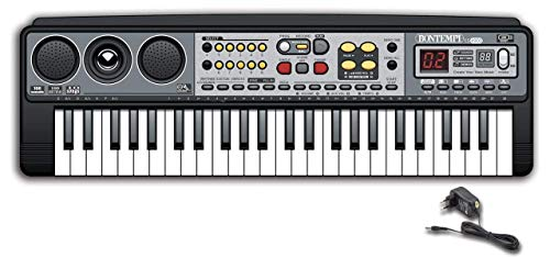 Bontempi 15 4900 Digitales Keyboard, grau