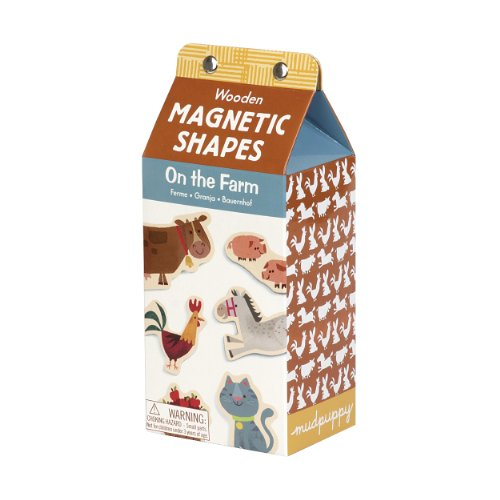 On the Farm Wooden Magnetic Shapes  9780735333482