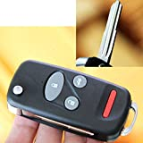 4 Buttons Uncut Flip Folding Remote Key Shell Case For 1998 1999 2000 2001 Honda CRV S2000 Insight Blade2.3