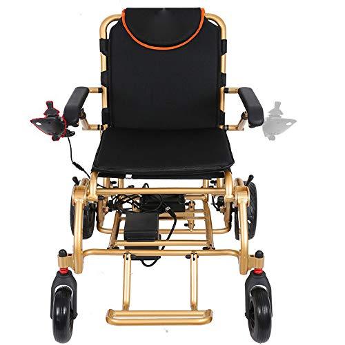 Faltbarer Rollstuhl Sicher Und Bequem Elektrischer Rollstuhl Faltbar Leicht 360 ° -Controller Mit Bluetooth-Funktion FM Foldawheel Elektrorollstuhl Verschleißfester Reifen,606AH