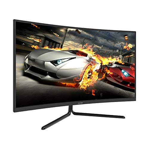 VIOTEK NV32Q True 4K Monitor 32-Inch Curved   60Hz 4ms (OD) Streaming-Ready 3840 x 2160p Monitor for Gaming/Movies   HDR-Ready 1500R VA Panel w/FreeSync   HDMI 2.0 DP 1.2 Audio Out (VESA)