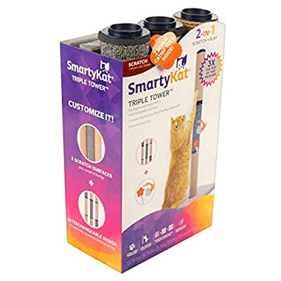 SmartyKat Triple Tower Cat Scratching Post