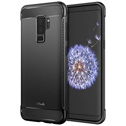JETech Funda Compatible Samsung Galaxy S9 Plus, Carcasa con Shock-Absorción y Diseño de Fibra de Carbon, Negro