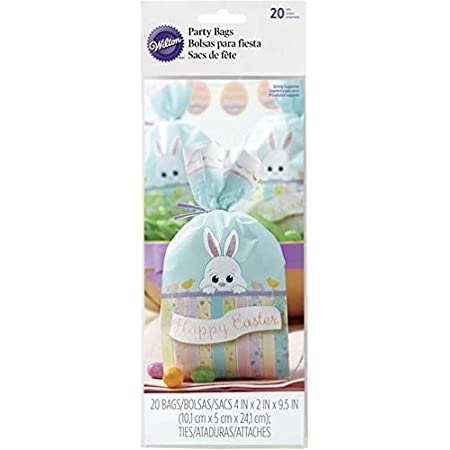 Easter Bunny Rabbit Pink Gift Treat Cello Sealable Bags NEW