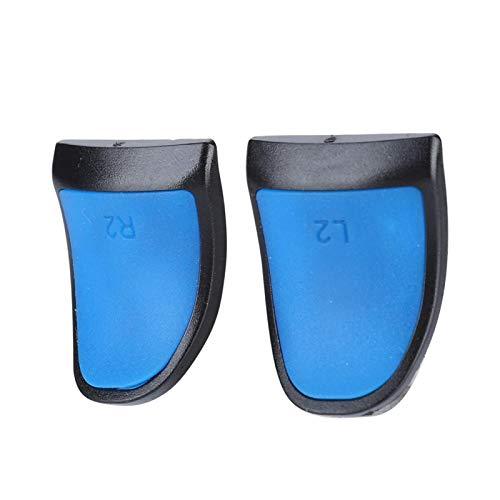 Shipenophy Extensores de Controlador L2 R2 fáciles de Instalar para PS4(Blue, 1 Set of 2)