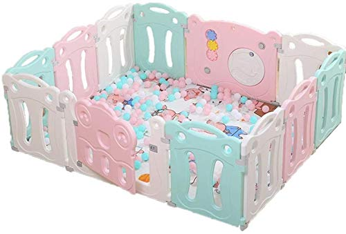 GCX Solid Baby Playpen Kids Activity Centre Safety Play Yard Home Indoor Outdoor New Pen Practical (Size : 14 panels - 200x180cm)