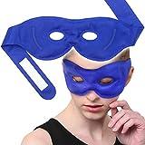 Augenmaske Kühlakku Gel Kühlpads Schlafen mit Hot Cold Therapien wiederverwendbar und schnelle Relif - Ideal für Kopfschmerzen, Migräne, Entspannung, geschwollene Augen