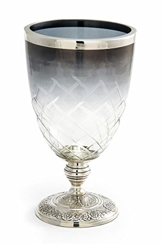 ROYAL QUEEN Vaso in Vetro con Base Argentato Argento Sheffield cod.581281 cm 25h diam.13,5 by Varotto & Co.
