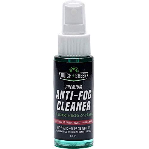Quick Sheen Anti-Fog Spray   Prevents Fogging of Glass or Plastic Windows, Medical Face Shields, Eyeglasses, Mirrors, Scopes, Swim Goggles, Ski Masks, Binoculars   Safe on Lexan