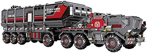 Yyz Technology Series Wandering Earth Large Box Carrier Kinder Puzzle zusammengebaut Baustein Spielzeug Modell Geburtstagsgeschenk