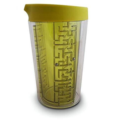 Mug avec Jeu de Labyrinthe Tasse avec 4 labyrinthes et Un Couvercle Bleu