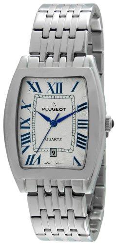Peugeot Men's Two-Tone Luxury Dress Watch with Japanese Quartz Movement & Stainless-Steel Bracelet