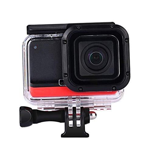 Estuche de buceo de 60 m para cámara Insta360 ONE R 4K IPX8 Carcasa impermeable para accesorios Insta 360 One R Montaje de cámara (Actividad aplicable: Buceo + Snorkel, Color: Transparente)