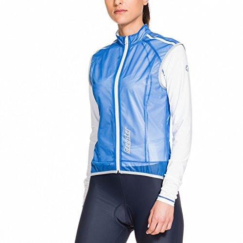 Gregster Gilet Ciclismo Donna Antivento, Smanicato con Zip e Tasca Posteriore, Azzurro