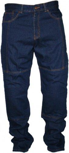 German Wear Denim Kevlar Motorradjeans Motorradhose Jeans, Protektoren Blau, Jeansgröße:36W/34L