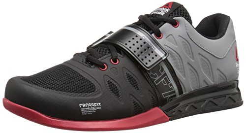 Reebok Men's Crossfit Lifter 2.0 Training Shoe, Black/Flat Grey/Excellent Red, 11.5 M US