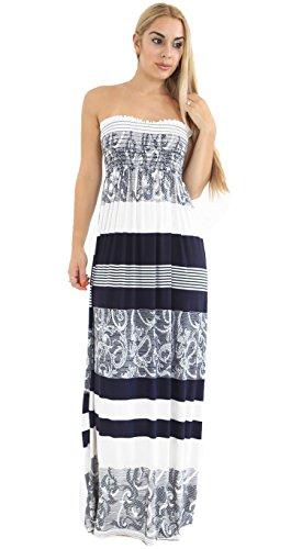 Fast Fashion - Damen-Maxikleid, Plusgröße, Batik-Optik, bedruckt Gr. 38, schwarz / weiß