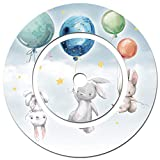 yabaduu Schutzfolie Schutzcover für Ladestation der Toniebox Passgenau Selbstklebend Kindgerecht Folie Zubehör für Kinder Spielzeug Y046 (Nr 42 Hasen Ballon, Ladestation Folie)