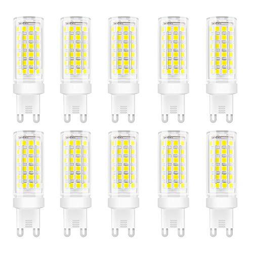10 stuks G9 LED-lampen 9W LED-lamp 75 SMD 2835 LEDs 360 graden stralingshoek hoge helderheid 900LM LED-lamp AC85-265V